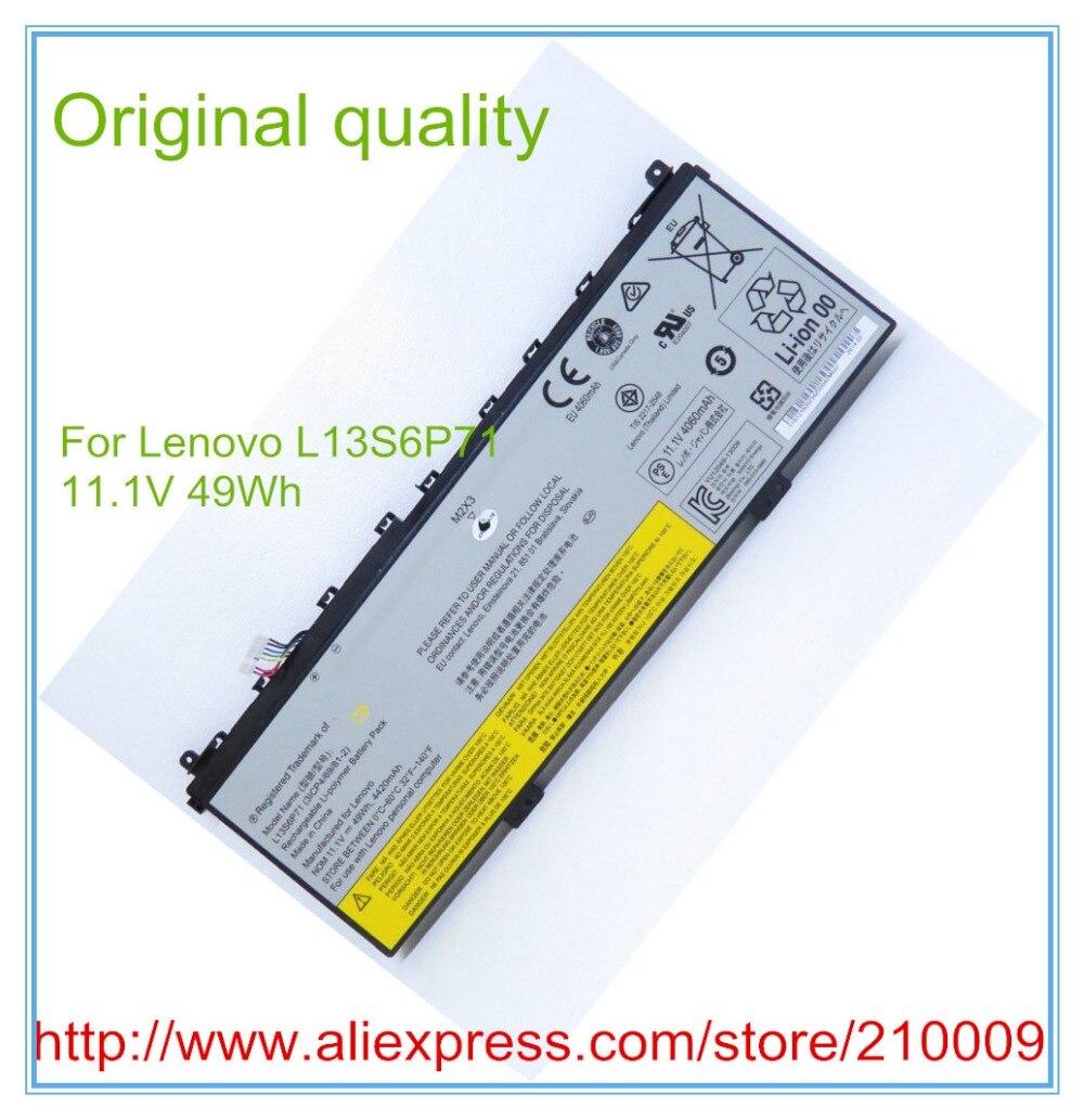 ФОТО 11.1V 49W original battery L13S6P71 for  L13S6P71 L13M6P71 121500234 Free shipping