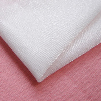 New Super Thin Shining Smooth Stretch Lining Fabric French Spandex Knitted Apparel Fabrics For Lingerie Hand