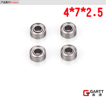 (3Pieces/Lot)GT450 4*7*2.5 Size Bearing  For 450 RC Helicopter 100% Align Trex