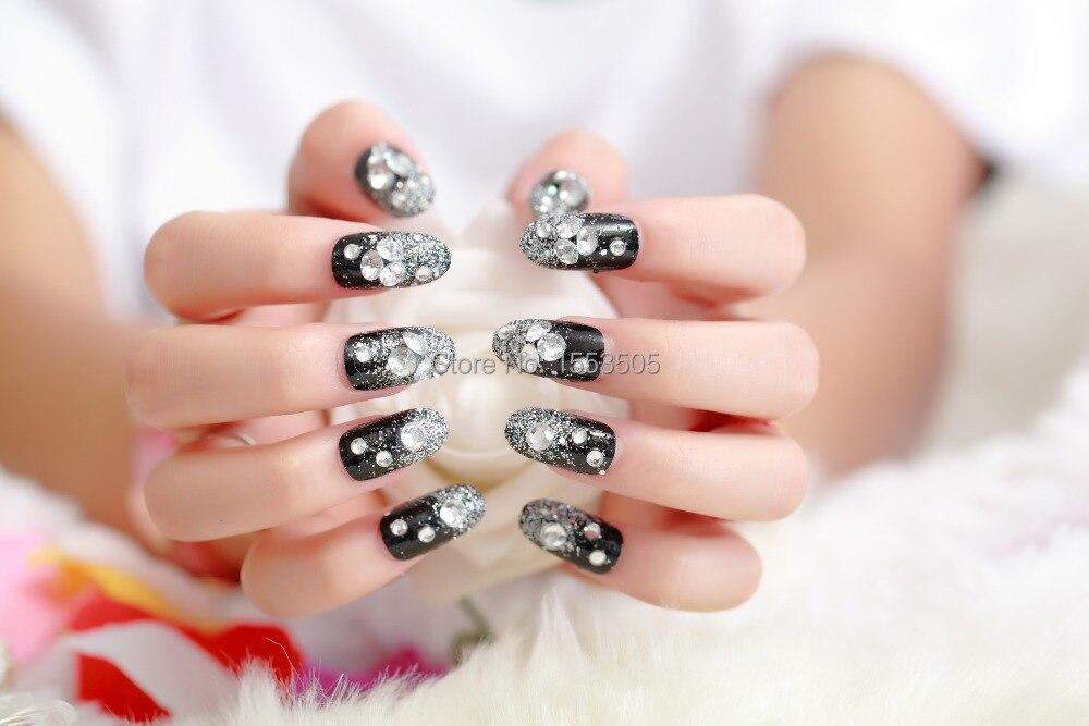 Online Shop harajuku kids false Nails French Stiletto Fake Nail Tips ...