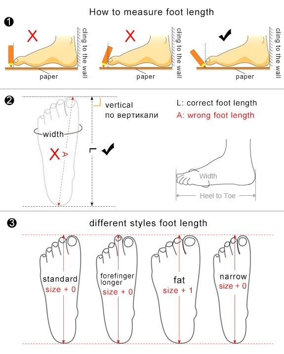 largo del pie-