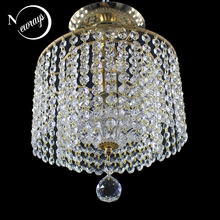 現代ロフトヨーロッパレトロ金属クリスタル天井照明 E27 plafonnier led ランプ器具照明器具リビングルームベッドルームキッチン