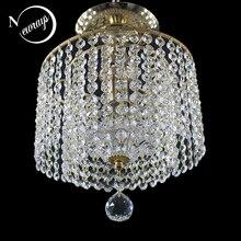 Moderno loft Europa retrò in metallo Luci di Soffitto di cristallo E27 Plafonnier HA CONDOTTO LA Lampada Apparecchio di Apparecchi di Illuminazione Per Soggiorno camera da letto cucina