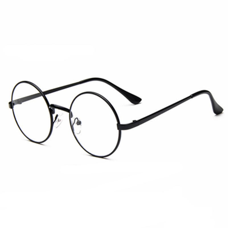 7dfbec173 2017 الجديدة المرأة النظارات المعدنية البصرية إطار نظارات كبيرة الإطار النظارات  الطبية النظارات واضحة اللون عالية الجودة