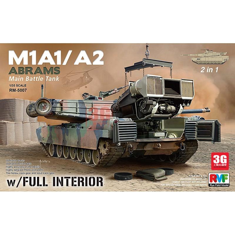 Assemble RMF US M1A1/A2 Main Battle Tank Full Interior 2in1 / 35 RM -5007 model kit цена