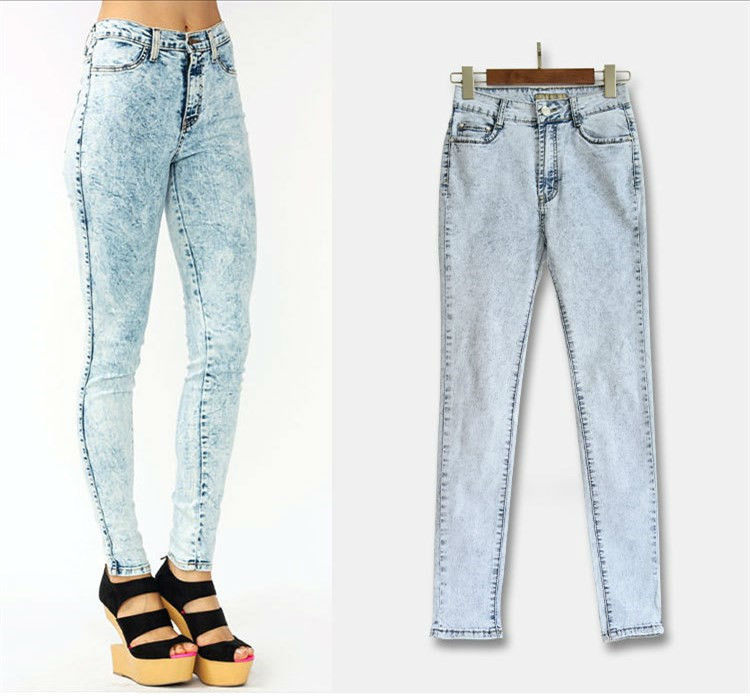 Online Buy Wholesale high waisted acid wash jeans from China high