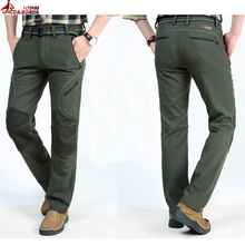 new Men Cargo Pants Winter Thick Warm Pants wear resistant waterproof Multi Pocket Casual Breathable Baggy