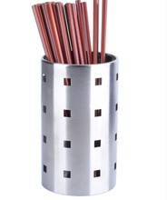 Kitchen Barware Home Storage Organization Storage Holders RacksStainless steel square hole chopsticks tube free shipping