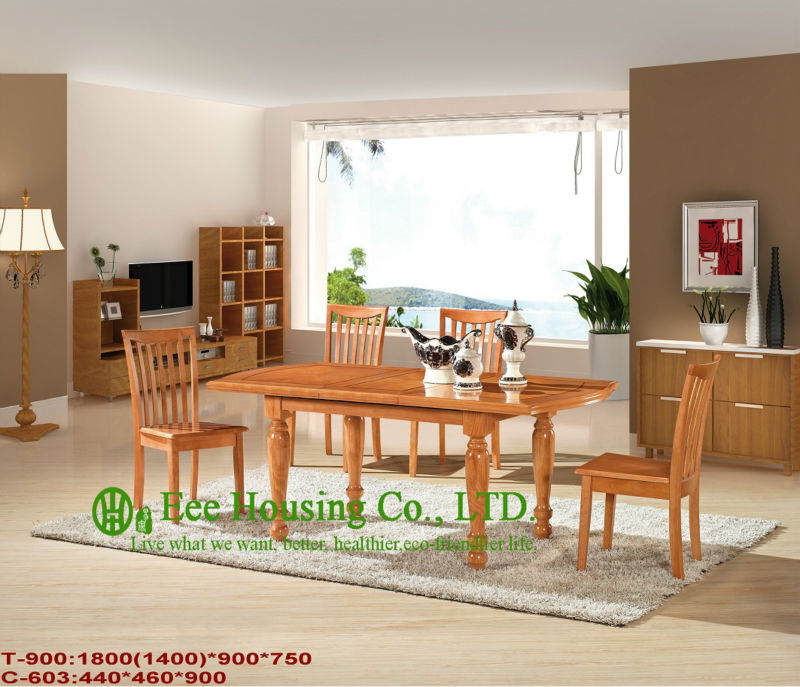 T-900,C-603  Luxurious Solid Wood Dinning Table, Solid Wood Furniture With Chairs/Home Furniture