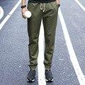 Повседневные Брюки для Мужчин 2017 Новых Людей Прибытия Марка Брюки Slim Fit Тренировочные брюки Мода Pantalon Homme Plus Размеры Высокое Качество