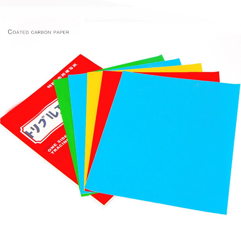 1 Set Colorful One Side Tracing Paper Coated Carbon Paper Fabric Drawing Tracing Paper For Cloth Embroidery Products