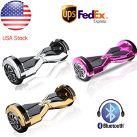 Chrome 8 Inch Bluetooth Smart Self Electric Balancing Scooter Hoverboard UL With Remote Key Carry Bag