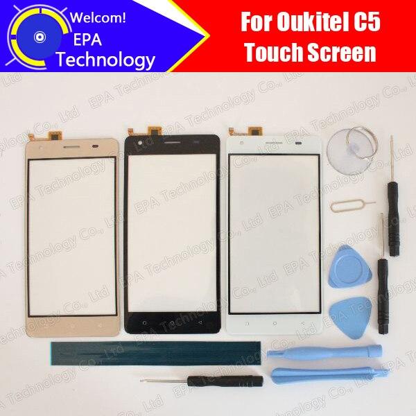 imágenes para Oukitel C5 Pantalla Táctil Digitalizador 100% de Garantía Original Del Panel Táctil de Cristal Digitalizador de Pantalla Para C5 + herramientas + Adhesivo