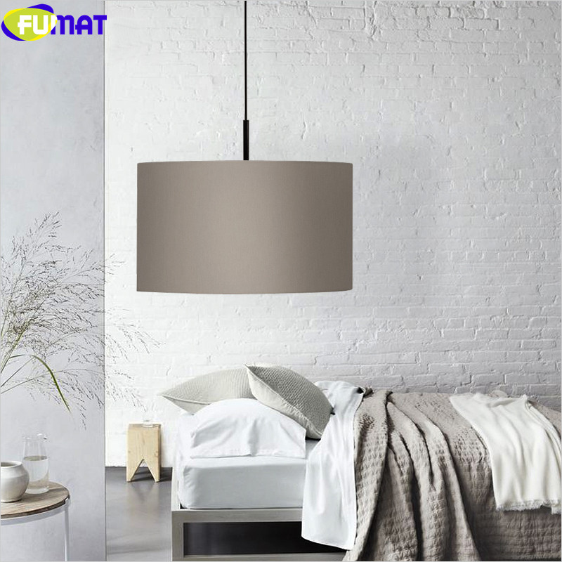 FUMAT Nordic Cloth Light Fixtures Modern Living Room Dinning Room Hanglamp Bar Bedroom Pendant Lamp Single Head Pendant Light fumat clear glass pendant light with hemp rope vintage cafe bar suspension light fixture nordic living room dinning room lamp