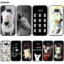 YIMAOC Bull Terrier Dog Puppies Soft Case for Samsung Galaxy S6 S7 S10eEdge  S8 S9 Plus ca9ca51436af