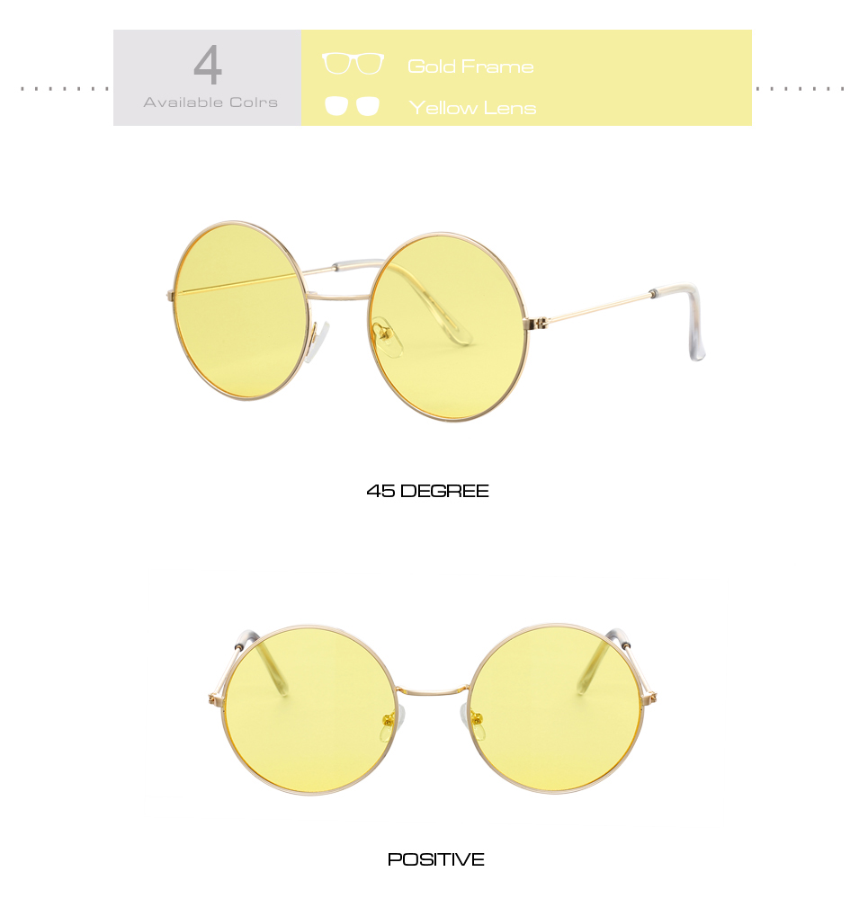Women's Round Mirror Sunglasses 13