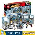 1521 unids 2016 super hero avengers superheros sede kits de edificio modelo bloques ladrillos juguetes compatibles con lego