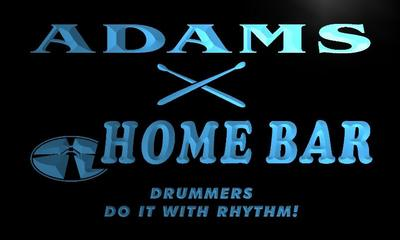 x1036-tm Adams Home Bar Drummers Lounge Custom Personalized Name Neon Sign Wholesale Dropshipping On/Off Switch 7 Colors DHL