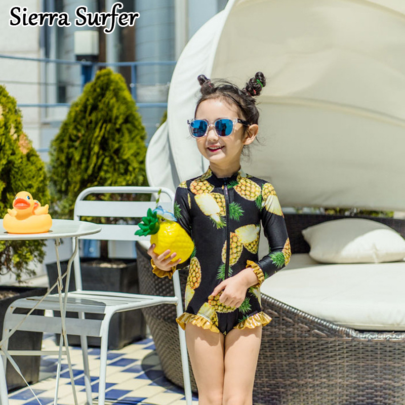 Child Swimwear Girl Swimsuit For Children Baby Clothes Girls Kids Summer 2018 Chaton New Korean One Piece Bathing Suit Big one piece little girl mermaid bow halter swimsuit baby kids girls sequins summer swimwear headband bikini set bathing suit