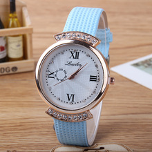New Designers Fashion famous brand Popular Wristwatch Leather Quartz Watch Women crystal Dress Watches Ladies relogio feminino