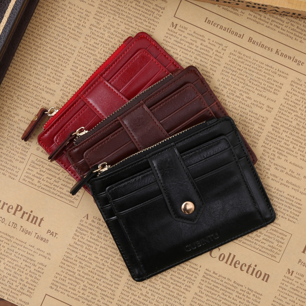 Korean creative zipper multi-function purse multicolor wallet PU leather card bit coin purse