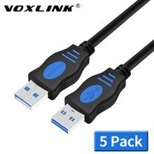 VOXLINK USB vers USB câble dextension USB 2.0 mâle vers mâle câble dextension disque dur externe câble adaptateur pour radiateur disque dur