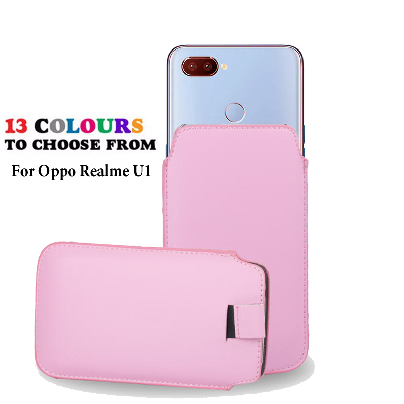 For Oppo Realme U1 Leather Pouch Coque For Oppo Realme U1 Pocket Rope Holster Tab Pouch Cover Accessories Phone Bag Case