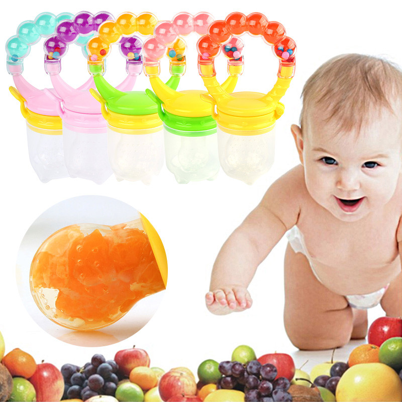 Supplies Soother Nipples Soft Feeding Tool Baby Infant Food Nipple Feeder Silicone Pacifier Fruits VCH47 P10