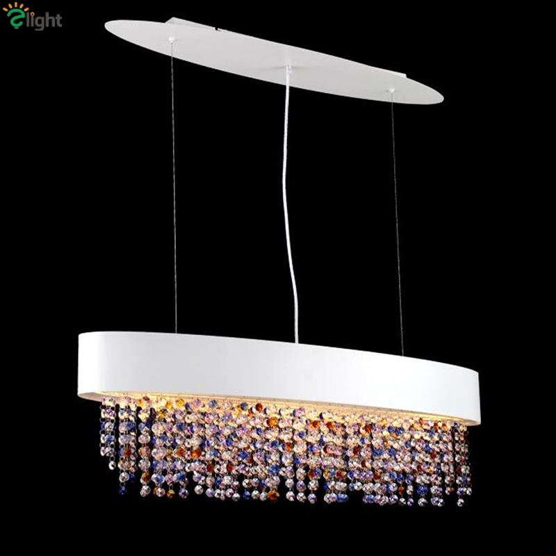Italy Easiero OLA Lustre Colorful Crystal Pendant Light Post Modern Minimalism White Metal Suspension Lamp For Hotel Living Room italy design k9 crystal chandelier modern fashion led glass suspension light living room bedroom bar lustre crystal light