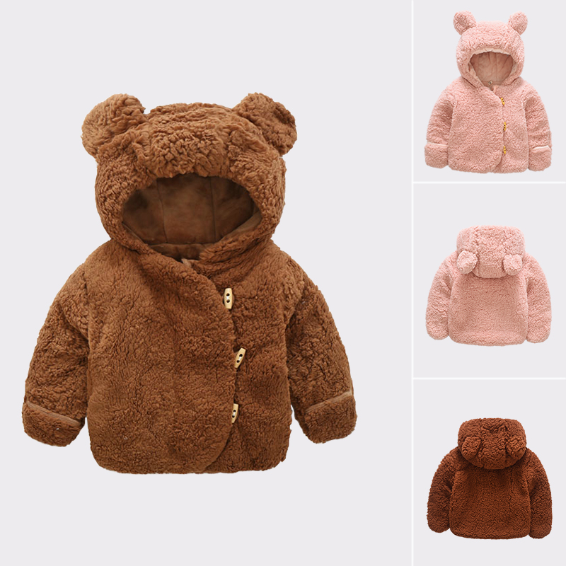 Jacket Padded Plush-Coat Velvet Girls Baby Boys Kids Winter Cute Infant Cotton X219 Trade