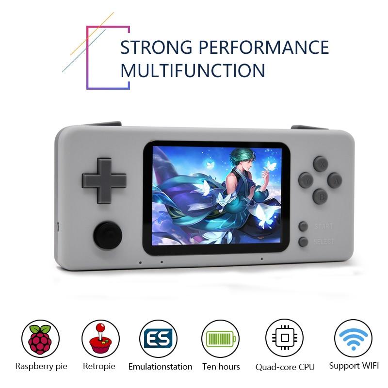 Handheld Video Console di Gioco 2019 Retro CM3 Mini Console di Gioco Portatile Lettore Pre-installare Retropie 45 Simulatore di 15000 Giochi