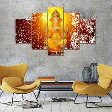 Ganesha Wallpaper Art Canvas Painting Prints Living Room Home Decoration Modern Wall Oil Posters Pictures Framework