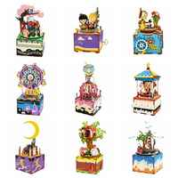 Rolife DIY Wooden Music Box Merry Go Round Carousel Home Decor Birthday Gift Present For Children Girlfriend Women
