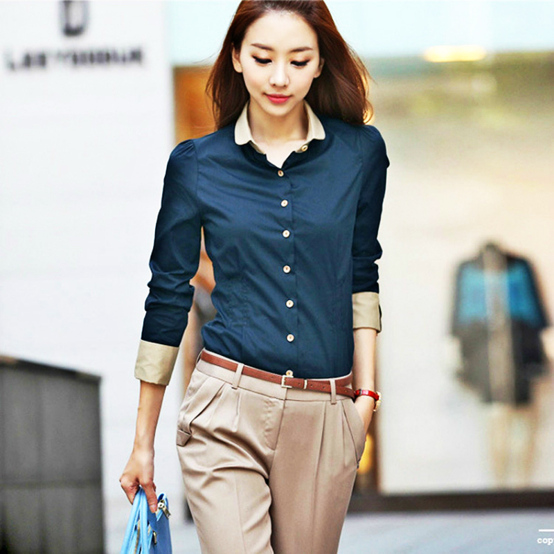 Formal Blouse Shirt Cardigan White Solid Elegant Women Clothes Blusas Femininas Roupas Casual Female Office Clothing Blouse Tops