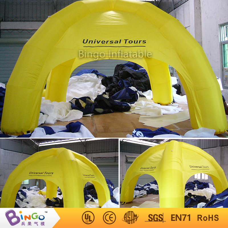 4M * 4M / 13ft * 13ft Yellow Inflatable Car Roof Tent Inflatable Tents for sale with Fre ...