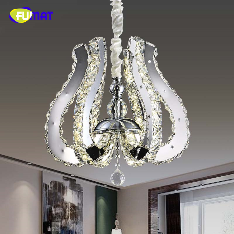 FUMAT European Style LED Crystal Pendant Light Creative Lustre Cristal Indoor Light For Living Room Artistic Petal Pendant Lamps luxurious crystal pendant lamp the european style living room lamps and lanterns creative bedroom crystal chandelier