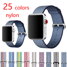 Woven Nylon Band Strap Colorful Pattern Classic Buckle – 38mm 42mm band for apple watch series 1 2 3