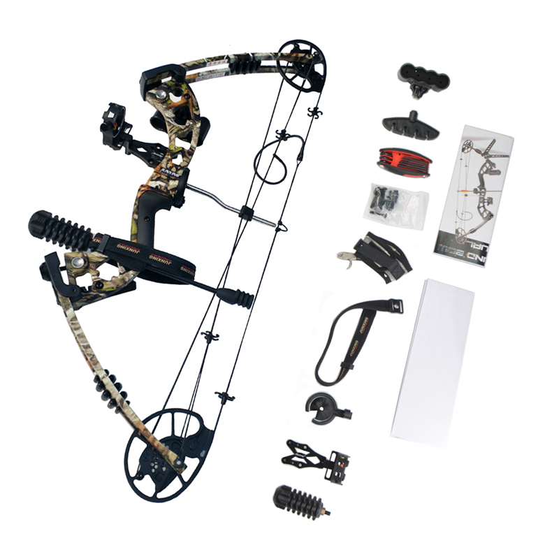 30 70lbs Archery Compound Bow Set Hunting Right Hand Compound Bow Accessories Arrow Rest Stabilizer Arrow