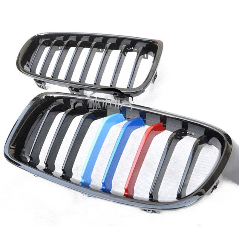 Grille OLOTDI pour bmw F30 Grill M couleur rein noir Grille de remplacement pour BMW série 3 F30 2012-2015 accessoires noir brillant