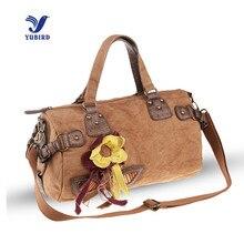 YUBIRD Canvas Bag Tote Ladies Bohemian Floral Beach Bag Handbag Women Vacation Cloth Casual Cross Body Bags sac a main toile