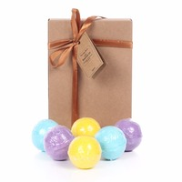 6 Packs 3 Scents Eucalyptus Lavender And Orange Handmade SPA Bath Fizzies Best Relaxation Organic Natural