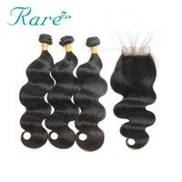 Rare Hair Pre Colored Peruvian Human Hair Non Remy Hair Body Wave 3 Bundles With 4