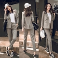 European and American Spring new fashion leisure suits + pants two-piece female temperament suit