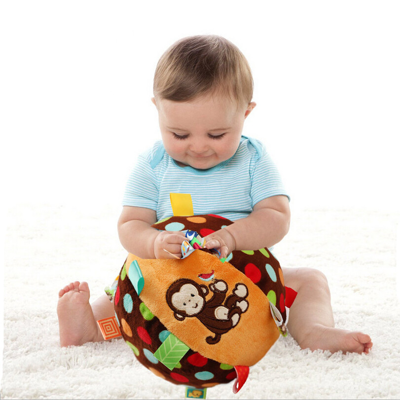 0-12 month baby Taggies toys bell cloth ball Early Education teddy Developmental Soft Stuffed Plush Toys bed Rattles