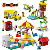 BanBao горячий Снупи Арахис IP фигурка пластиковые строительные блоки игрушки для детей обучающая модель DIY Кирпичи совместимый бренд