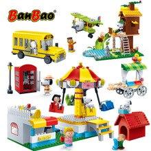 BanBao ร้อน Snoopy ถั่วลิสง IP รูปบล็อกอาคารพลาสติกของเล่นเด็กเด็กการศึกษา DIY อิฐยี่ห้อ