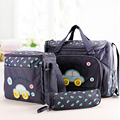 Fashion 4 PCS/SET Multi-function Mammy Bags Mother Backpack Baby Bag Maternity Nursing Diaper Bag Nappy Bag Shoulder Bags