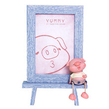 Zakka Cute Piglet Photo Frame Creative Resin Crafts 6 Inch Set Decoration Pig Model Frames Send Friends Children Birthday Gifts(China)
