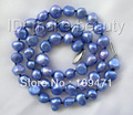 8mm baroque blue freshwater cultured pearl necklace