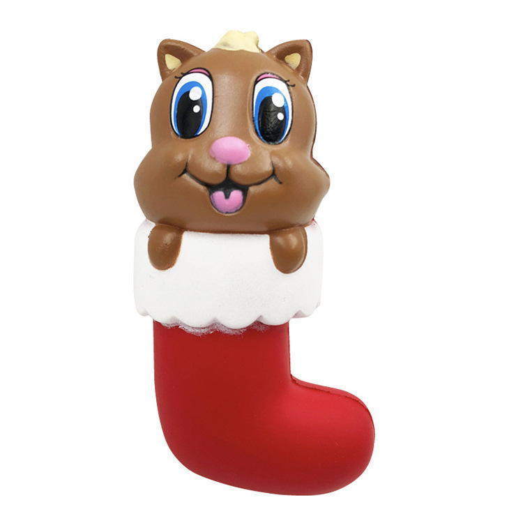 SWEES Kawaii Squishy Jumbo Christmas Stocking Cat Bear Slow Rising ...